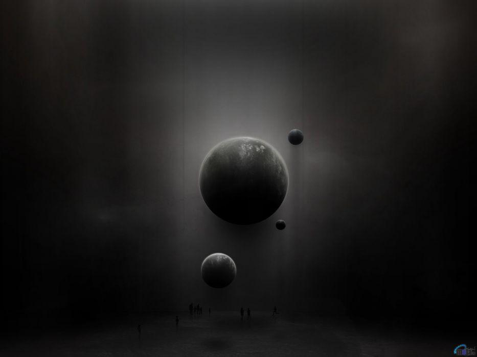planets digital art wallpaper