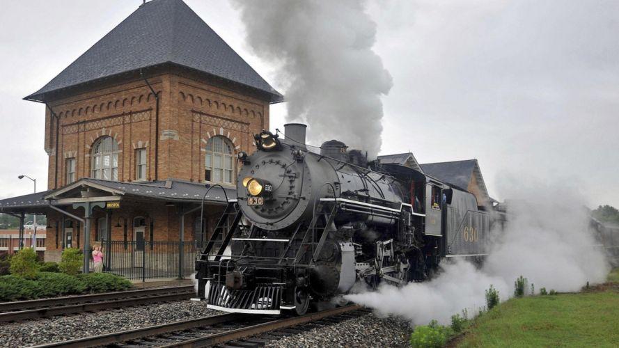 trains Steam train locomotives widescreen wallpaper