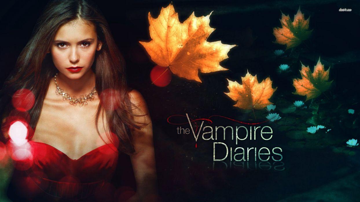 VAMPIRE DIARIES drama fantasy horror television series autumn wallpaper