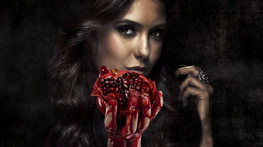 VAMPIRE DIARIES drama fantasy horror television series blood wallpaper