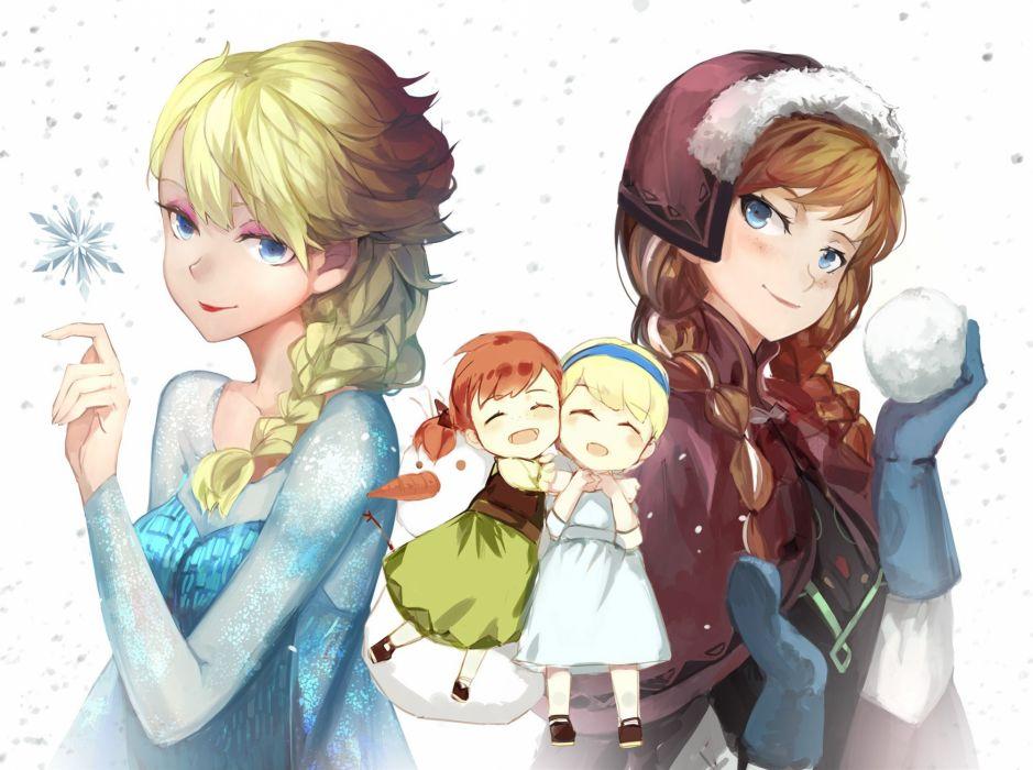 frozen (disney) anna (frozen) elsa (frozen) frozen (disney) saberiii wallpaper