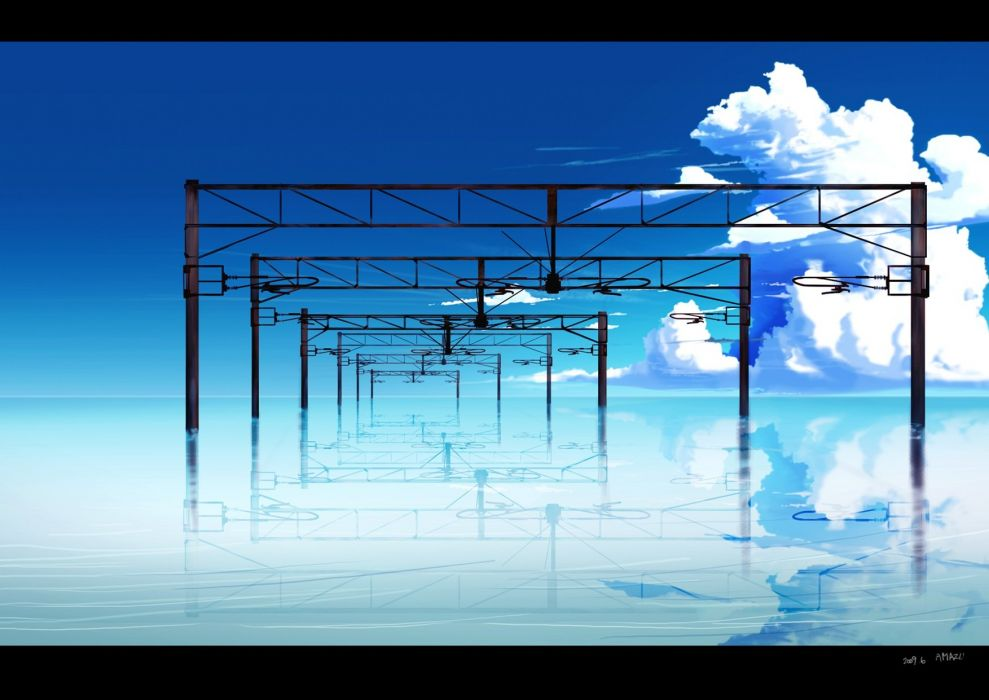 original amazu yoriiti clouds nobody original scenic sky water wallpaper