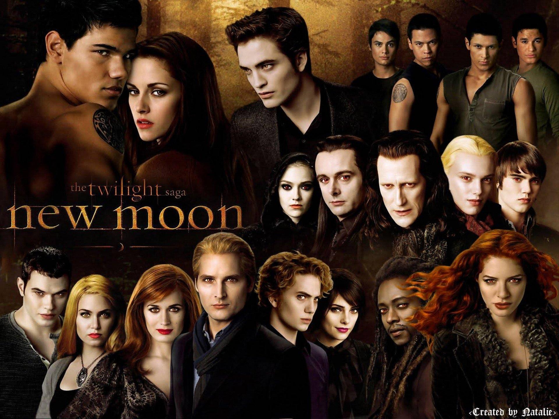 Twilight saga drama fantasy romance movie film poster for New moon vampire movie