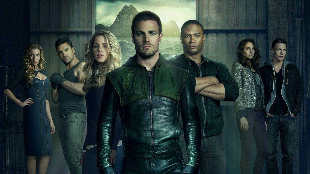 ARROW green action adventure crime television series wallpaper