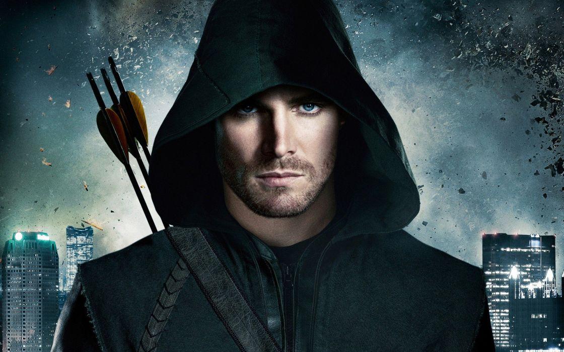 ARROW green action adventure crime television series warrior archer city wallpaper