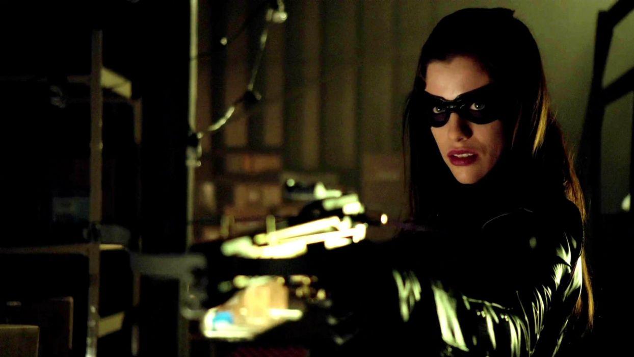 ARROW green action adventure crime television series warrior brunette weapon gun wallpaper