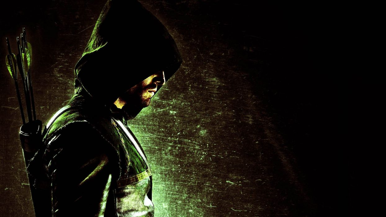 ARROW green action adventure crime television series warrior weapon archer wallpaper