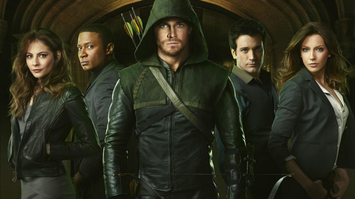 ARROW green action adventure crime television series wallpaper
