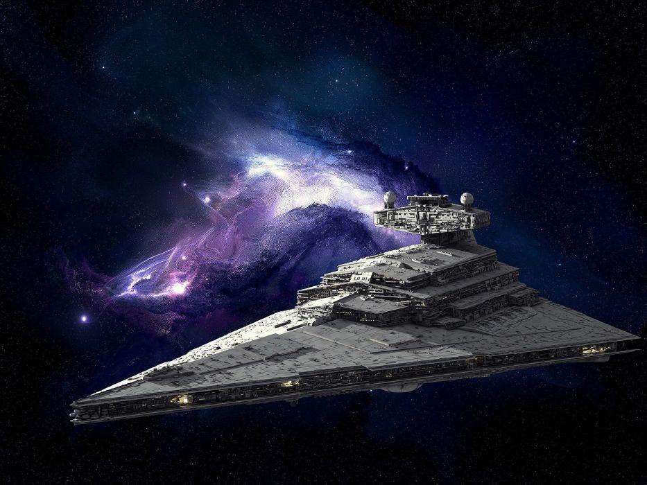 star wars spacehip nebula space movie film action wallpaper