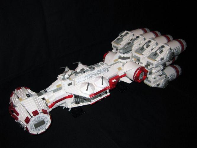 BLOCKADE RUNNER sim sci-fi mmo game spaceship lego wallpaper
