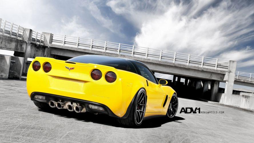 Corvette yellow cars wallpaper