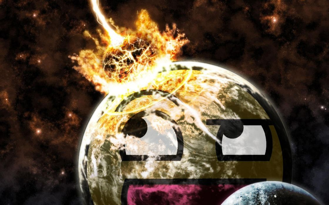 planets Awesome Face wallpaper