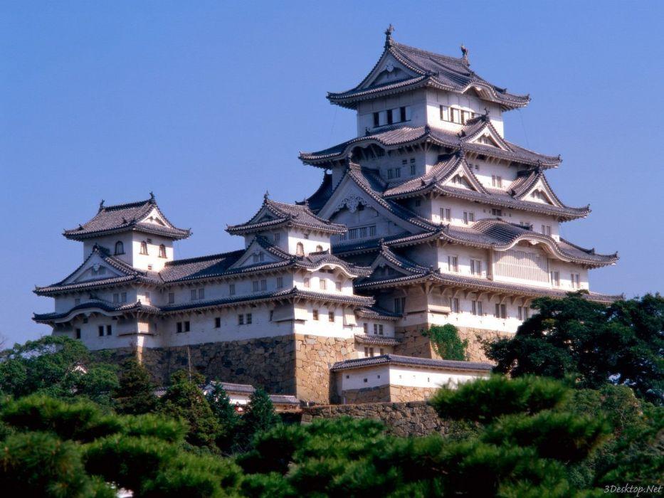Japan castles architecture Himeji-Jo Castle Japan The Keep Towers wallpaper