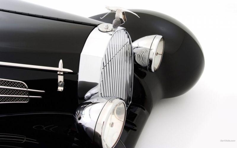 cars Delahaye roadster black cars wallpaper
