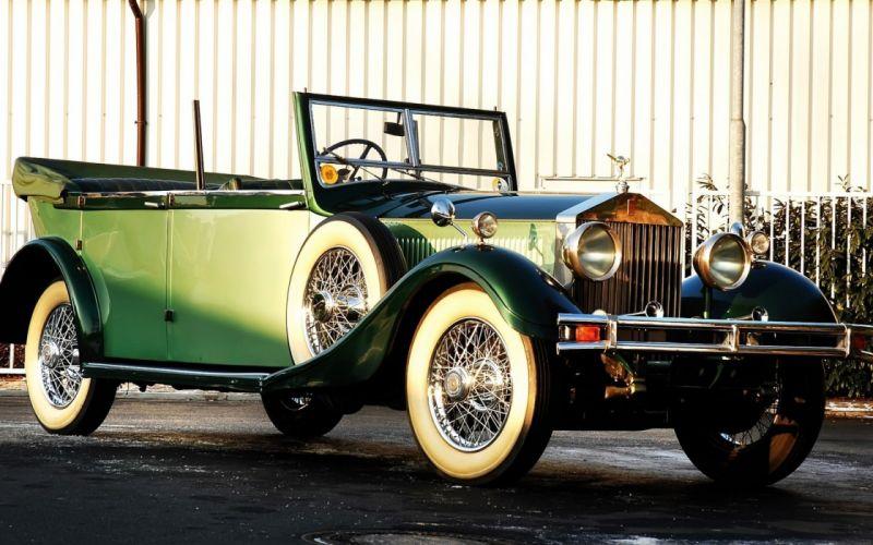 phantom Rolls Royce hunting cabriolet vintage car wallpaper