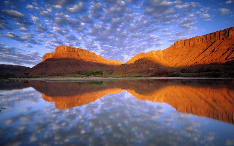 water lakes reflections wallpaper