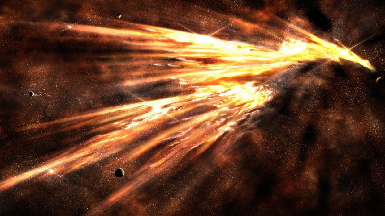 abstract outer space planets artwork wallpaper