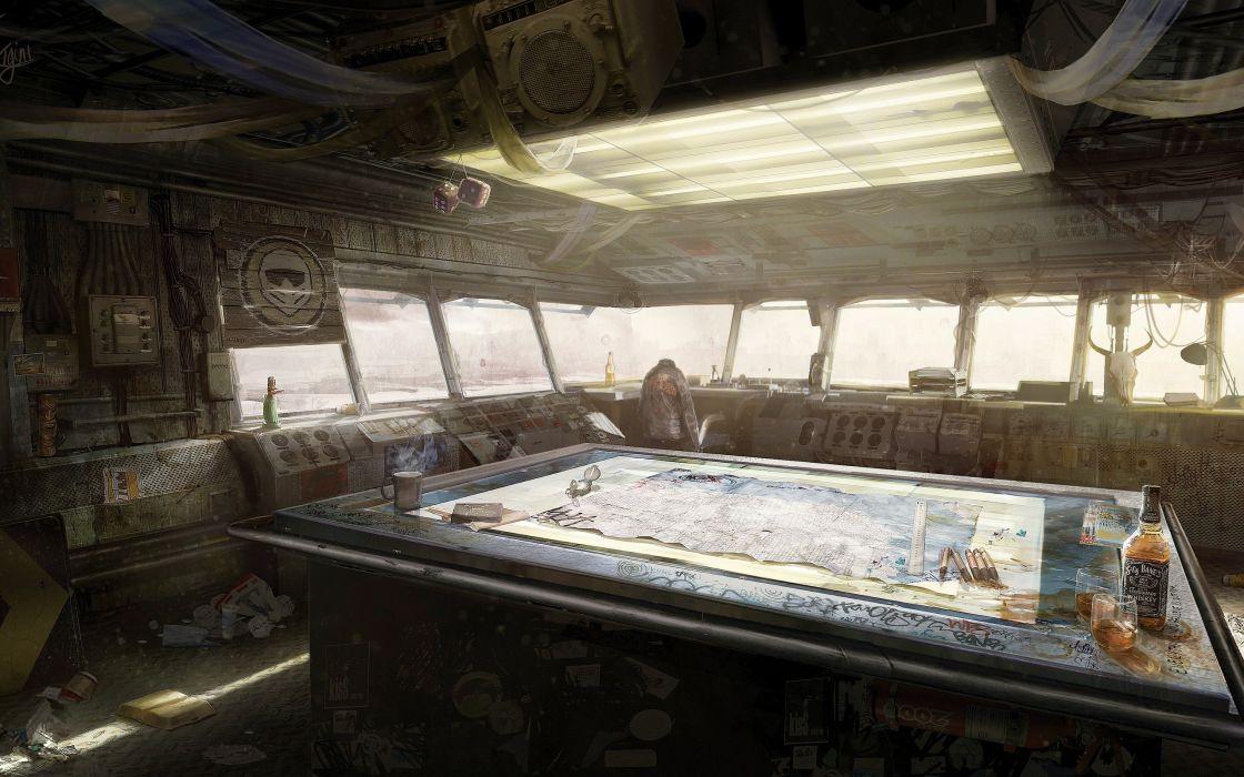 post-apocalyptic tables apocalypse artwork Motorstorm Jack Daniels wallpaper