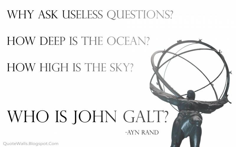 Ayn Rand Atlas Shrugged John Galt wallpaper