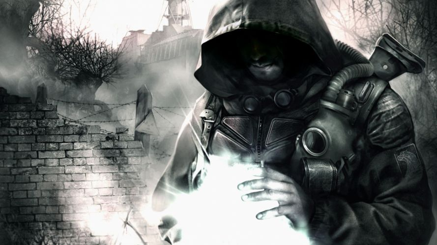 light video games nature S_T_A_L_K_E_R_ guns ruins night storm men buildings disasters action S_T_A_L_K_E_R_: Shadow of Chernobyl paranormal danger S_T_A_L_K_E_R_: Call of Pripyat bushes hiding facilities wallpaper