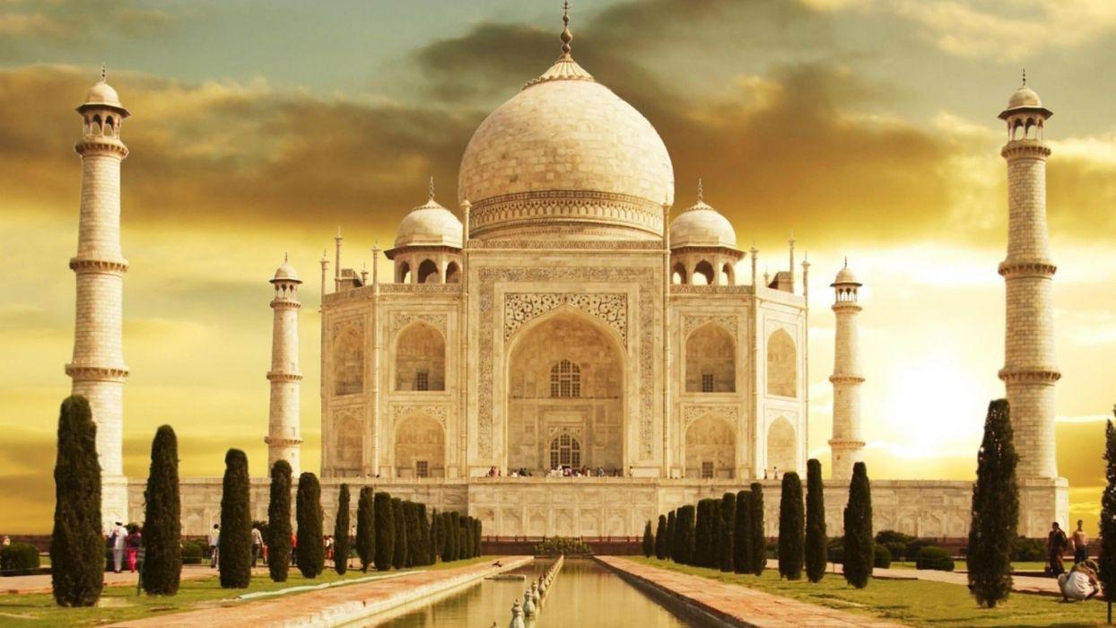 landscapes architecture buildings Taj Mahal monumental wallpaper