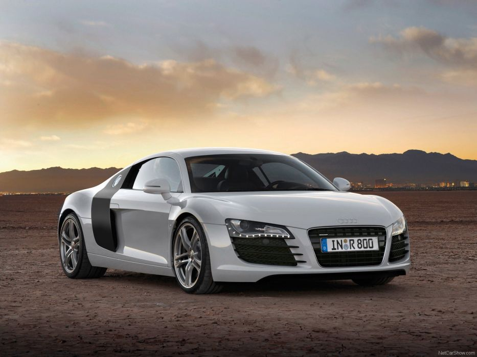 cars Audi vehicles sports cars white cars Audi R8 GTR automobiles front angle view wallpaper