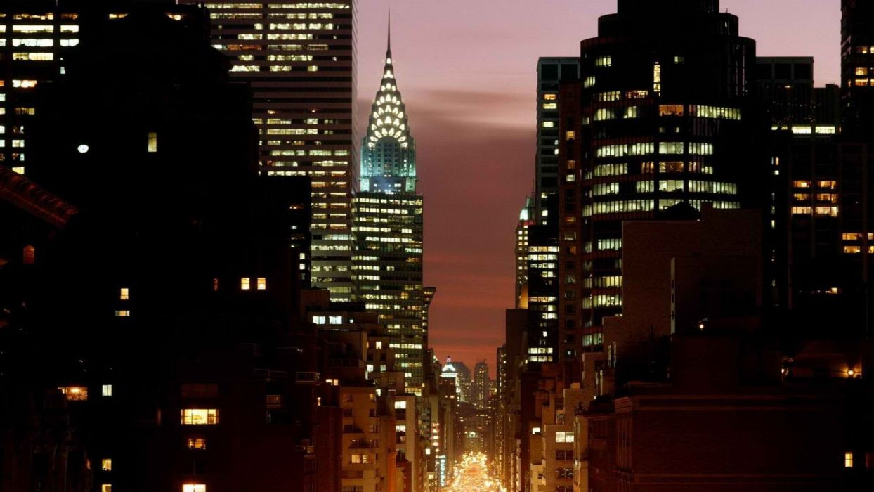New York City city lights Empire State Building wallpaper