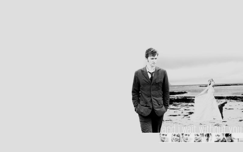 David Tennant Billie Piper grayscale Doctor Who Tenth Doctor wallpaper