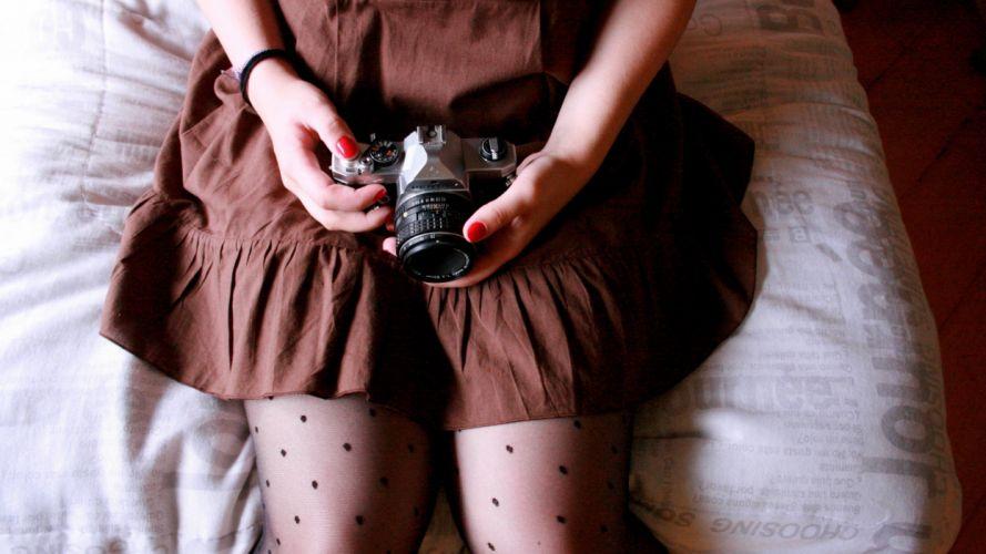 legs women cameras wallpaper