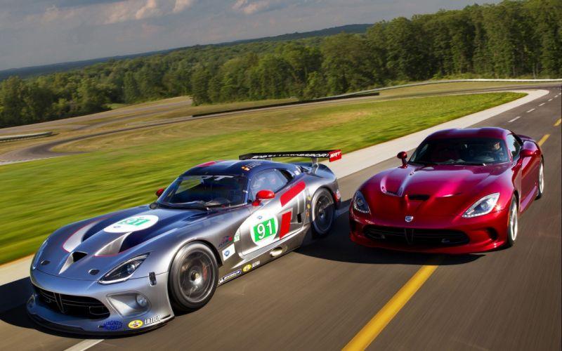 American cars vehicles Dodge Viper supercars red cars racing cars wallpaper
