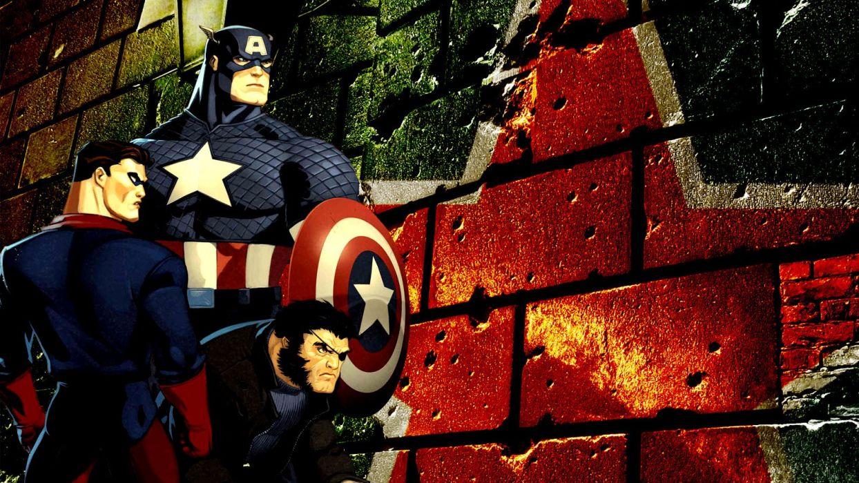 Captain America Wolverine Bucky wallpaper