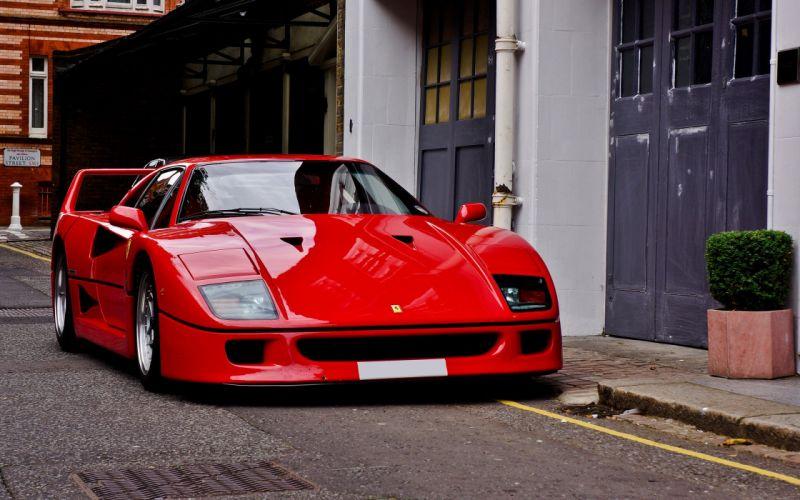 cars vehicles Ferrari F40 front view auto wallpaper