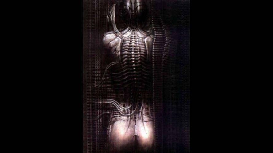 Xenomorph artwork Alien H_R_ Giger wallpaper