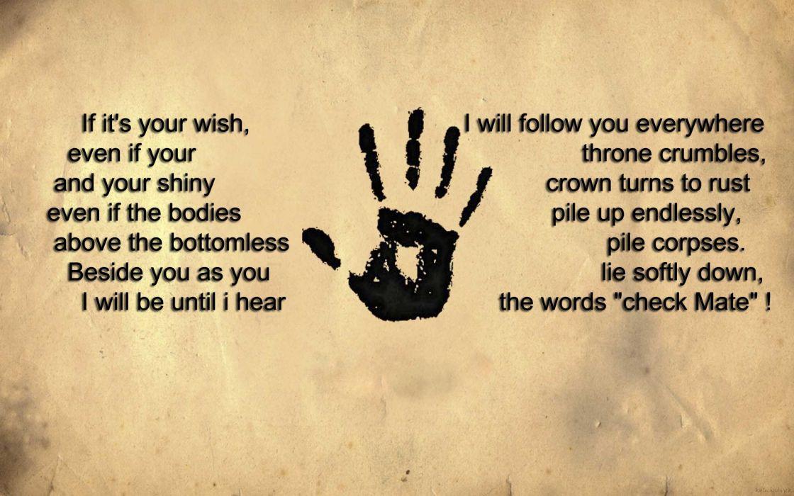 Dark Hands Quotes Sad Darkness Wish Rust Throne Crowns Konan Brotherhood Ezechyel Right Hand Papyrus