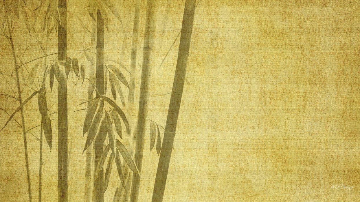 bamboo digital art oriental drawings backgrounds simple wallpaper