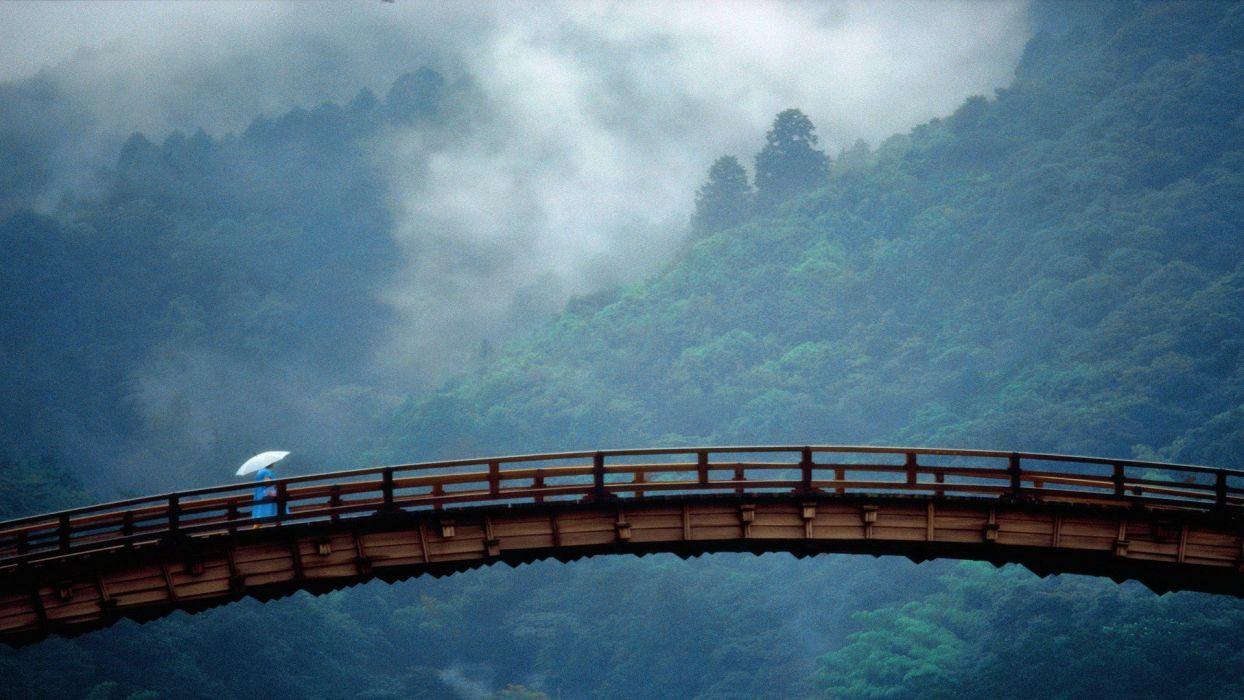 Japan landscapes Yamaguchi Prefecture Kintai Bridge wallpaper