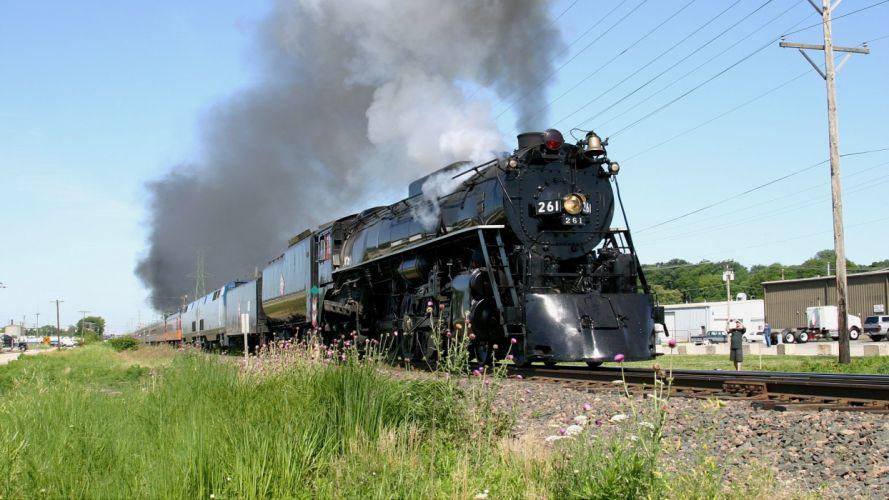 trains locomotives steam locomotives widescreen 4-8-4 Milwaukee Road wallpaper