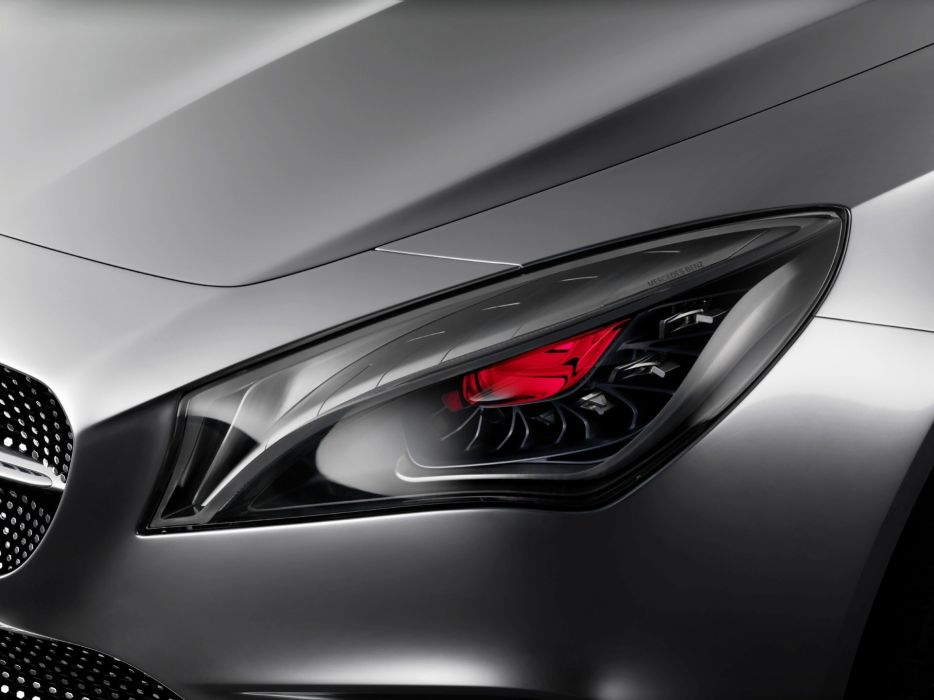 red concept art coupe Mercedes-Benz headlights Style Coupe wallpaper