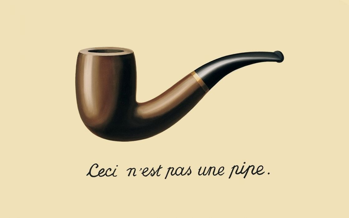 smoking pipes Rene Magritte The Treachery of Images wallpaper