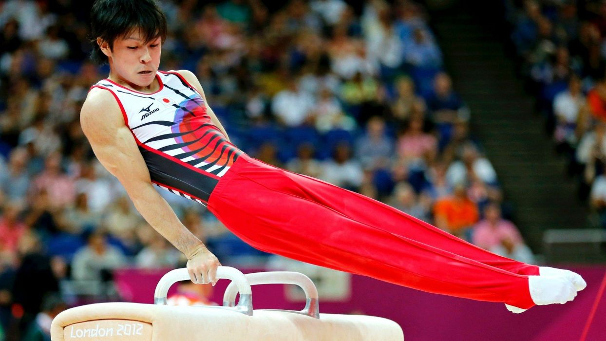 Japan Japanese gymnast athletes gymnastics Olympics 2012 Kohei Uchimura wallpaper