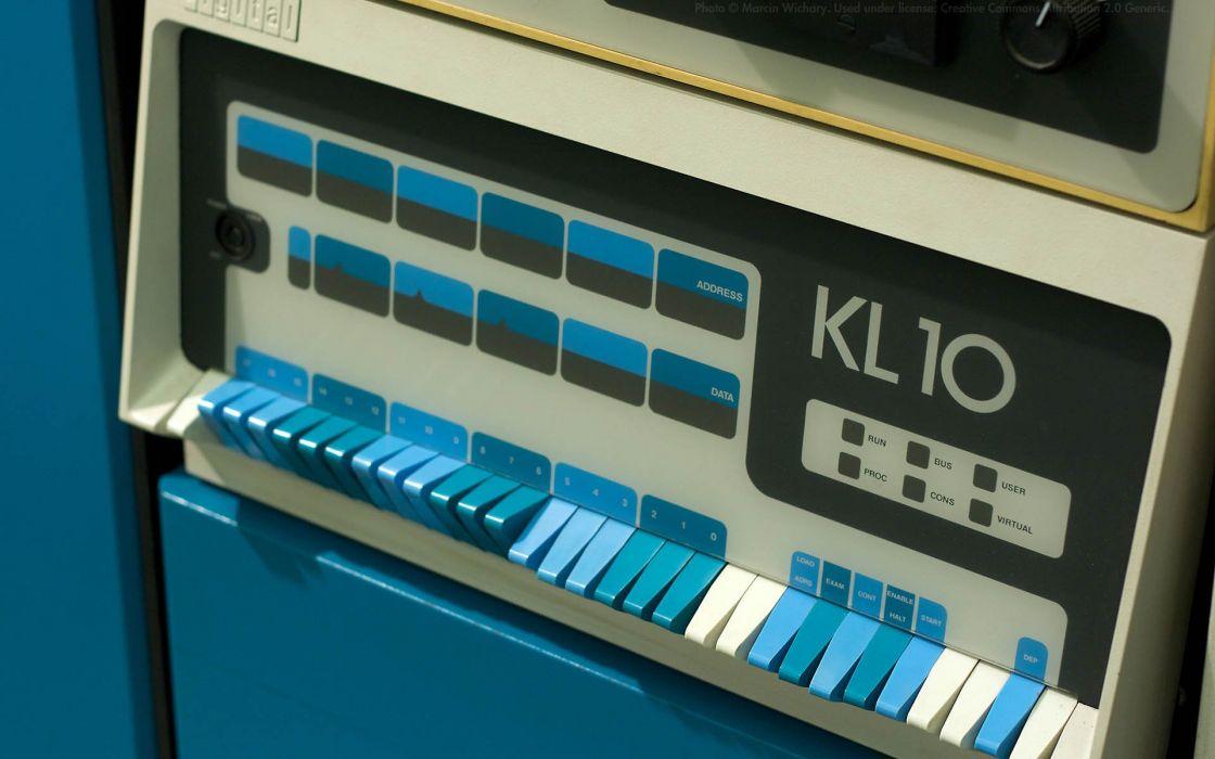 computers history Marcin Wichary DEC PDP-10 wallpaper