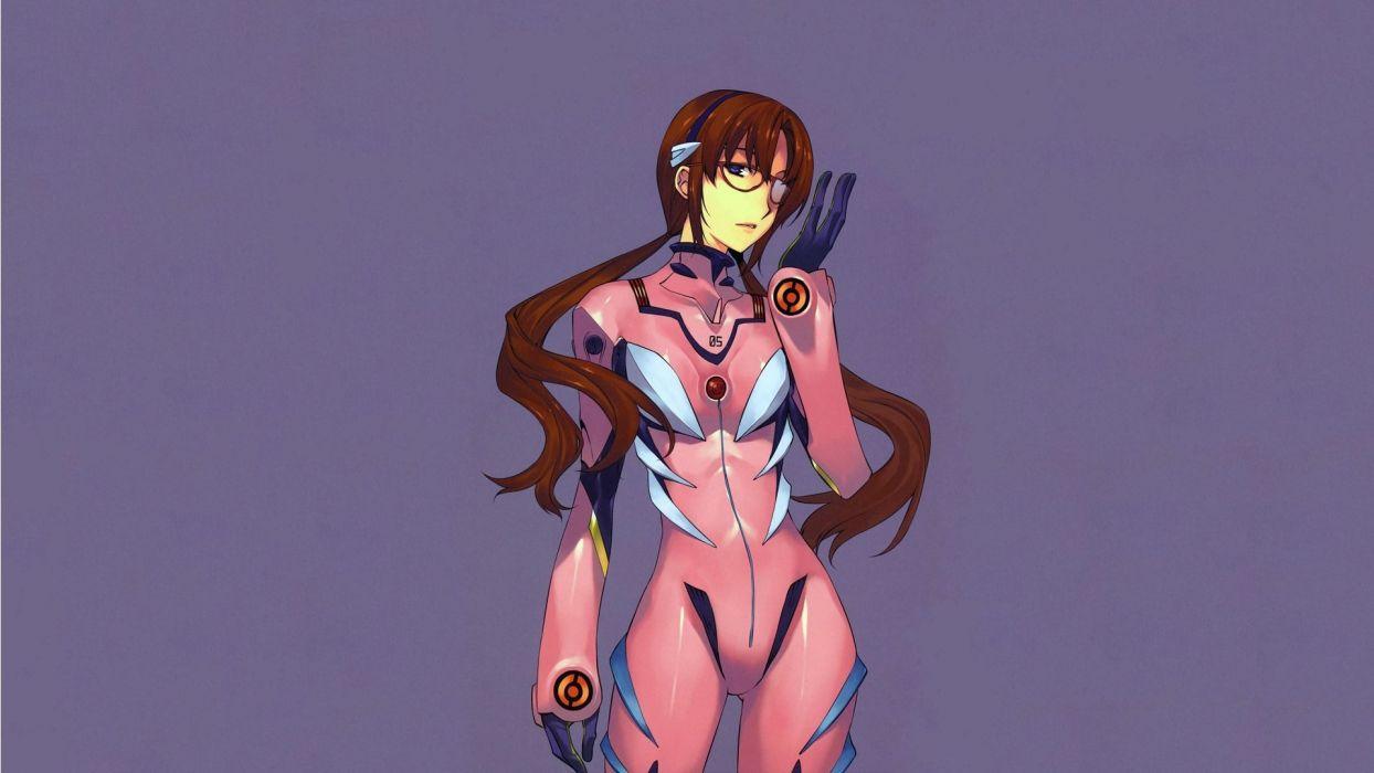 Neon Genesis Evangelion Makinami Mari Illustrious simple background wallpaper