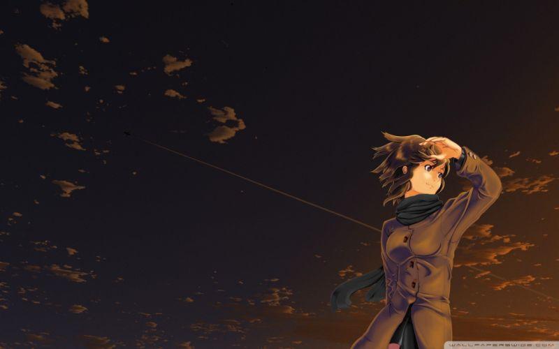 anime manga anime girls evening skies wallpaper