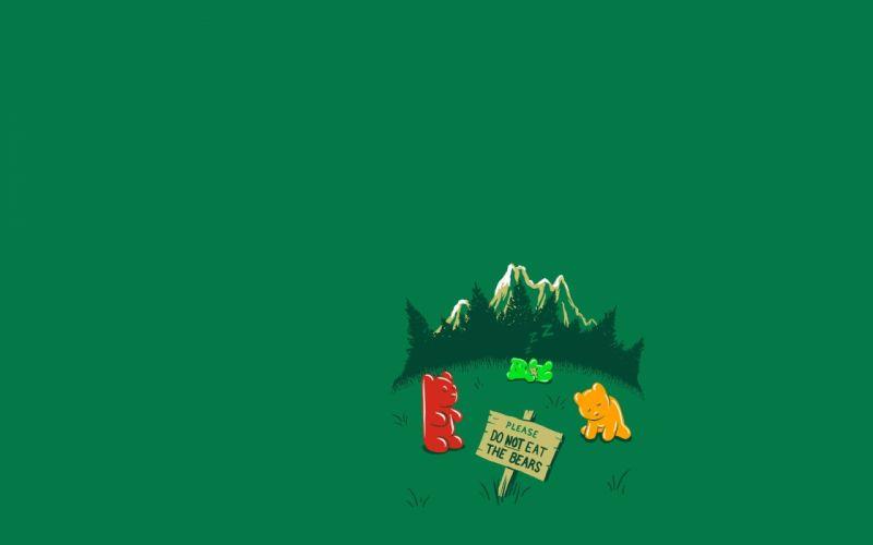 minimalistic funny Gummy Bears wallpaper