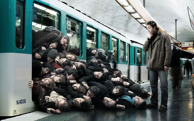 groups crowd metro underground surprise wallpaper