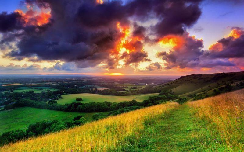 clouds landscapes wallpaper