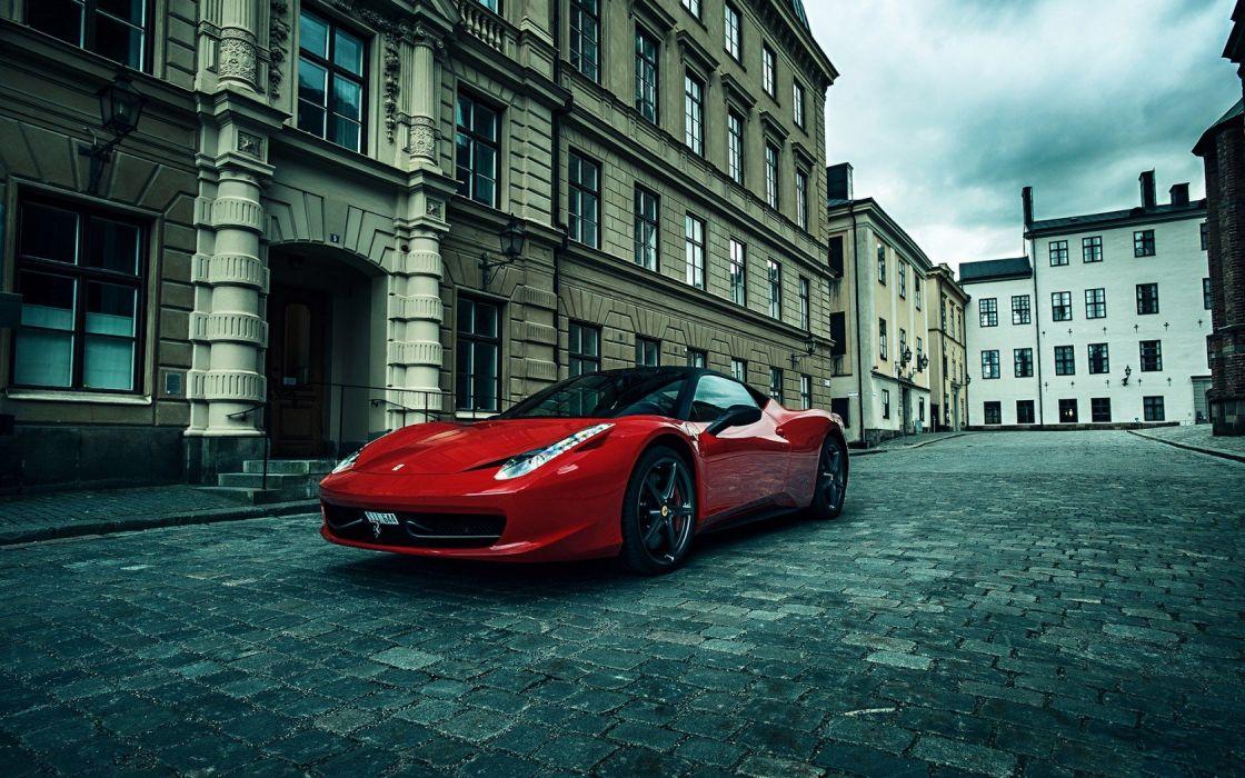 streets cars engines Ferrari wheels red cars fast  italian cars auto wallpaper