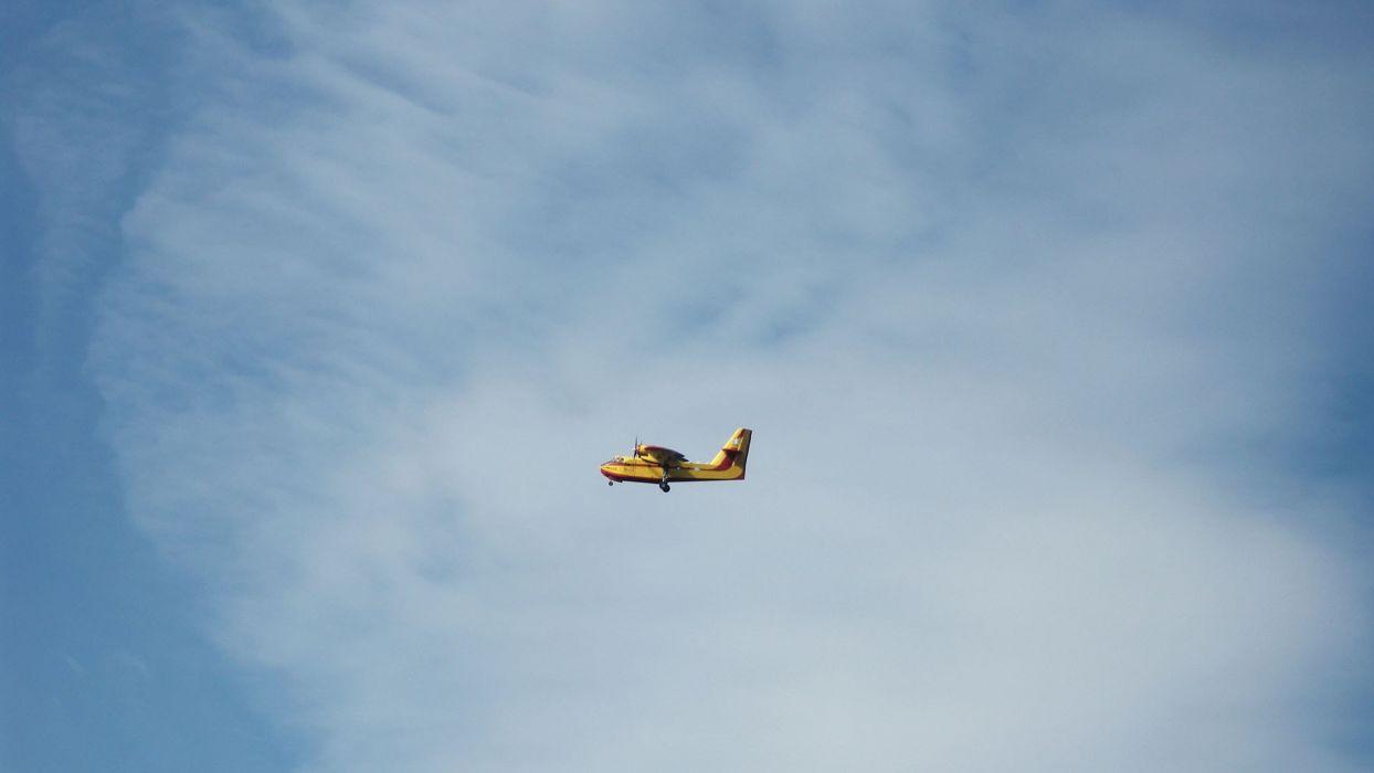 aircraft up to the sky Eleusina fire plane wallpaper