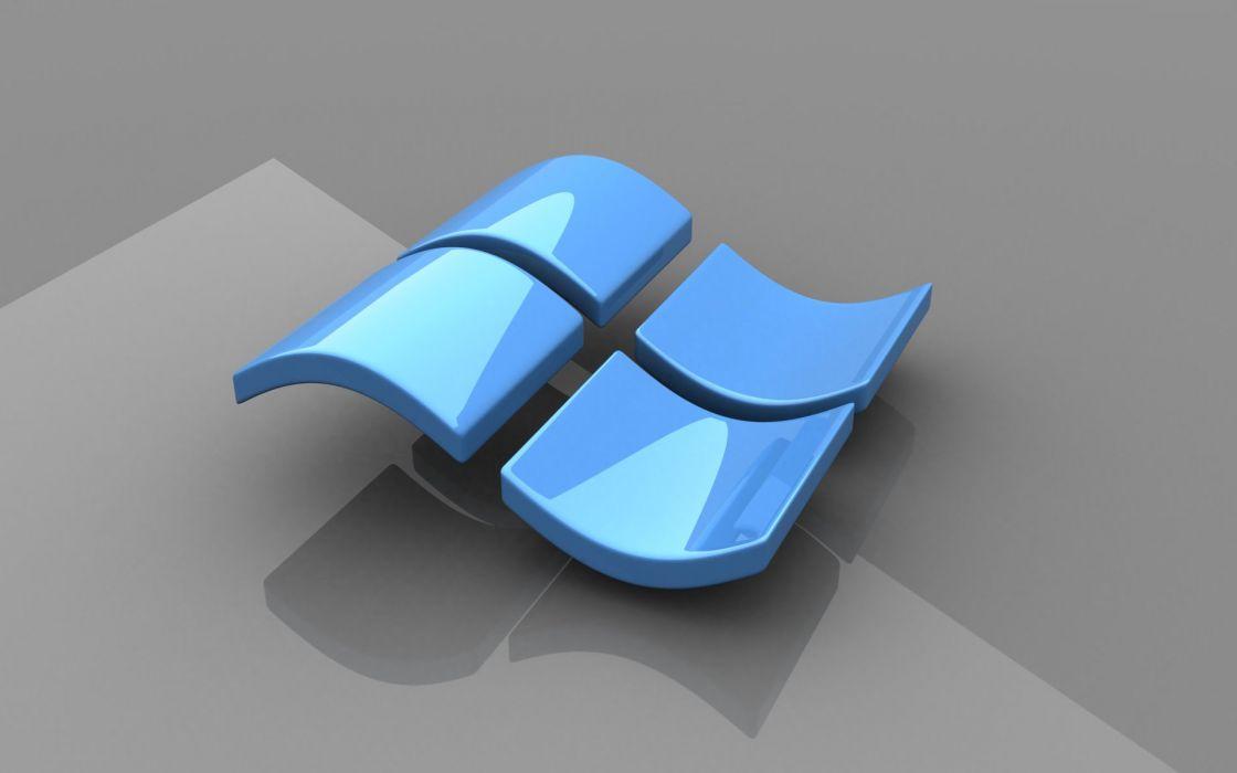 Microsoft Windows logos glossy texture wallpaper