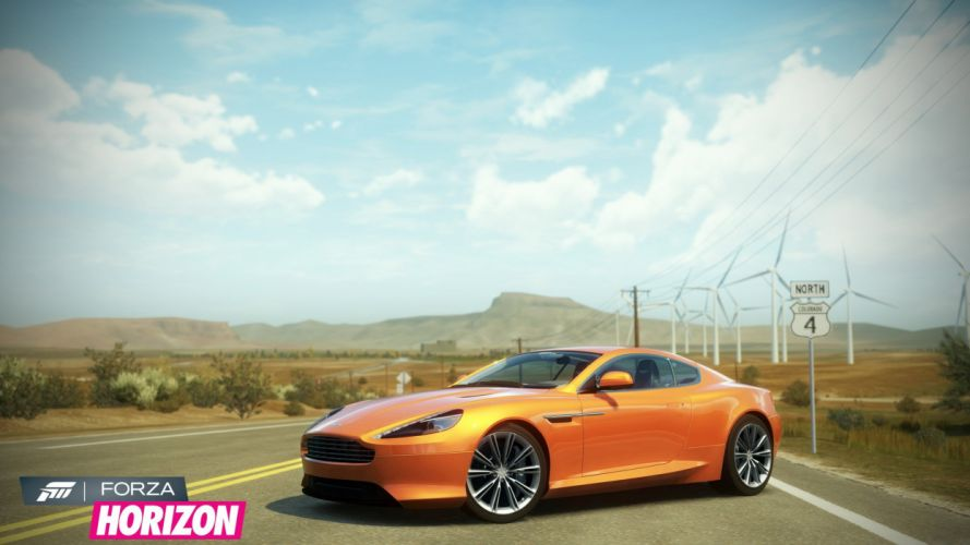 video games cars Xbox 360 Aston Martin Virage Forza Horizon wallpaper